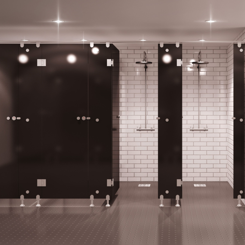 Commercial Compact Laminate Shower Cubicles
